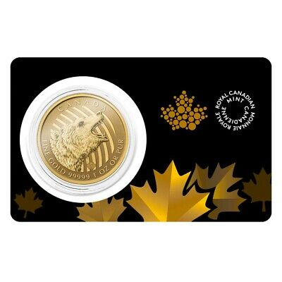 2016 1 oz Canadian Gold Roaring Grizzly - Call of the Wild $200 .99999 Fine Gold