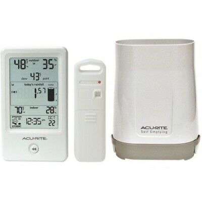 NEW Chaney 01089M Rain Gauge with Indoor/Outdoor Temperature Weather Station