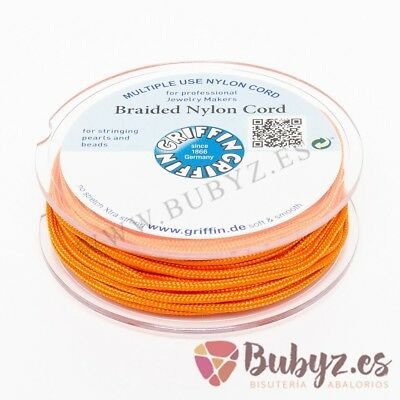 Corde en nylon Tressée Rond 50m 1,0mm Couleur Orange