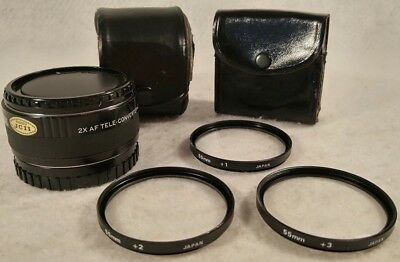 Focal 2X AF Tele-Converter 4E/MC 20-07-18 and +1 +2 +3 55mm Lenses Made in Japan