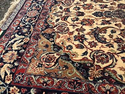 Final Listing Genuine Signed Antique Persian Isfahan Seirafian Serafian Rug Mint