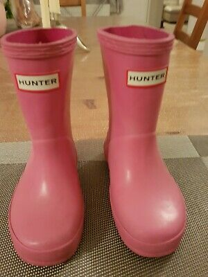 4f27dfe90bd TODDLER GIRLS PINK Hunter Welly Boots, Size 6