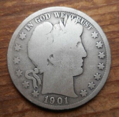 1901-S Barber Half Dollar - Better Date - Really Nice Low Mintage Example!!