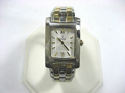 Bulova 98L110 Ladies Casual Watch Stainless Steel & Gold Plated Silver Dial