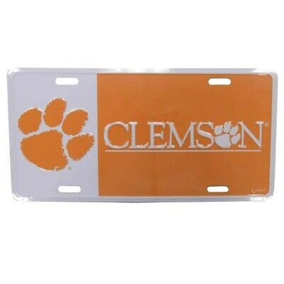Clemson Tigers Car Tag License Plate Color Block Auto Truck University