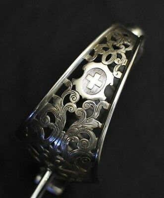 Model 1867 Swiss Sword Quill-back Saber Chrome Officer's Unmarked