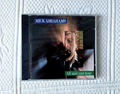 Mick Abrahams‎  All Said And Done  1991  Elite ELITE007CD   Rare OOP New & Saled