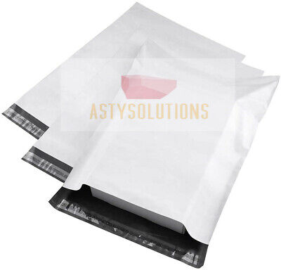 Any Size Poly Mailers Plastic Envelopes Shipping Bags ASTY 2.7 Mil White Premium
