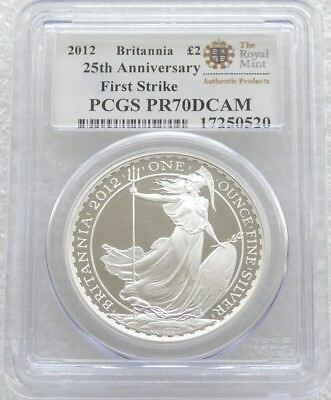 2012 Great Britain Britannia £2 Two Pound Silver Proof 1oz Coin PCGS PR70 DCAM