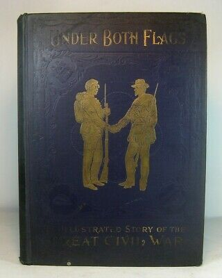 CIVIL WAR Antique MILITARY Book 1896 UNION CONFEDERATE Soldier ARMY NAVY Battles