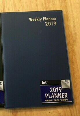 "2019 Jot Weekly Planner Navy Vinyl Softcover 5 1/4"" by 7 1/2"""""