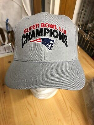 Super Bowl Champions LIII New England patriots Gray Baseball Hat 53