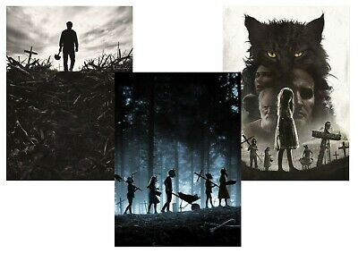 Pet Sematary: Stephen King A5 A4 A3 Textless Movie Posters