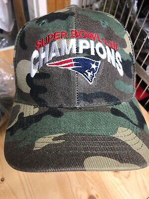 Super Bowl Champions LIII New England patriots Camouflage Baseball Hat 53