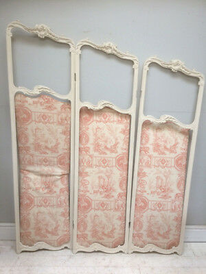 French Antique Rococo Style Folding Screen