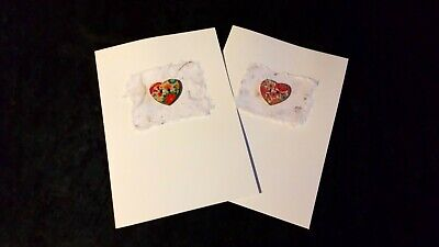 Handmade heart button mothers day/birthday/any Occasion quality greeting cards.