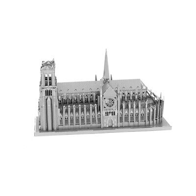 Fascinations ICONX Notre Dame Cathedral Laser Cut 3D Metal Model Kit