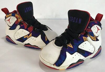 8052c95dcb214c Air Jordan 7 Sweater Nothing But Net 304772-142 WHT Red BLK 9c Toddler