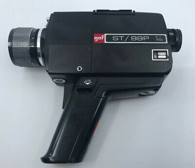 Super 8Mm Gaf St/99P Movie Camera Chinon 8.5-40Mm 5:1 Zoom Lens Ships Out In 24H