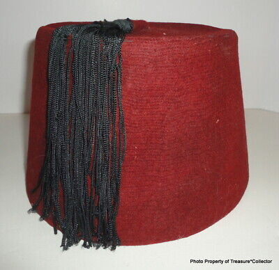Vintage Red Maroon Fez with Tassel