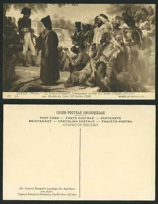Egypt Old Postcard General Bonaparte Pardoning Revolters of Cairo, Guerin Pierre