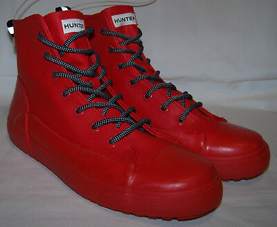 NEW HUNTER For Target Dipped Red Canvas Sneaker Snow Rain Boots Mens Womens  Shoe e7a1236c08a6