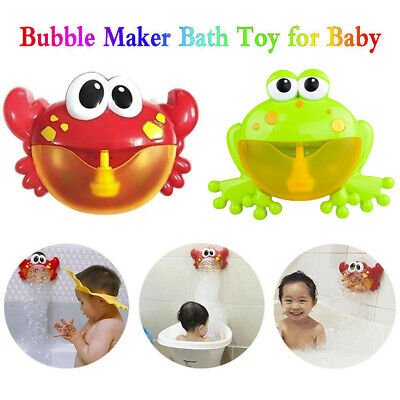 Bubble Machine Crab/Frog Automatic Bubble Maker Blower & Music Bath Toy For Baby