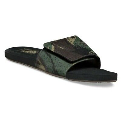 8c856ed40 Vans Camouflage Slide On Sandals Nexpa Shore Camo Black Multiple Sizes  Brand New