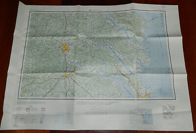 Vintage Chart Map Richmond Virginia 1963 US Army Corps of Engineers 34x24