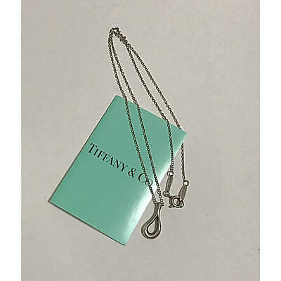 Tiffany & Co Silver 925 Open Teardrop Necklace Necklace Pre owned From Japan F/S