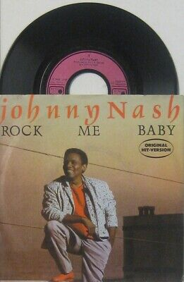"""Johnny Nash  Rock me Baby / love theme from rock me Baby , 7"""" 45"""