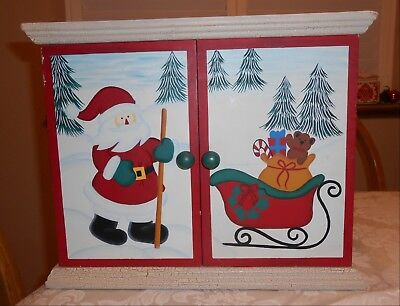 Vintage Large Wooden Advent Calendar With Drawers 7995 Picclick