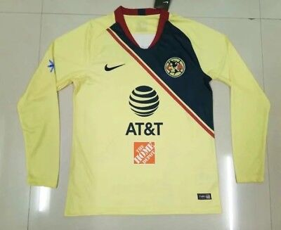 2abd5987cd5 Club America Long Sleeve Home Soccer Jersey 2018/2019 Men Adults Mexico  League