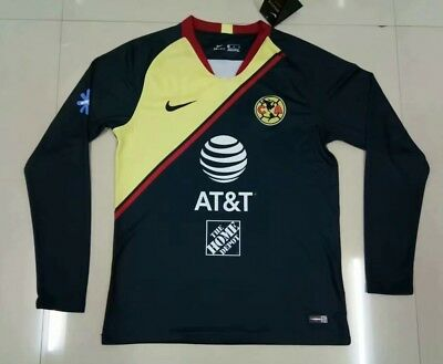 dfdbab45101 Club America Long Sleeve Away Soccer Jersey 2018/2019 Men Adults Mexico  League