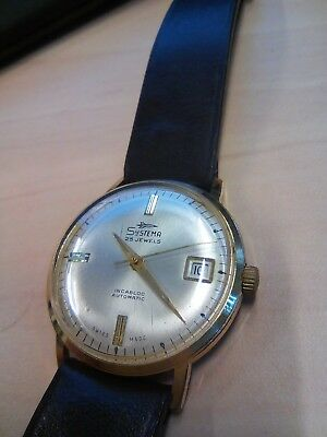Gents Early 1960s Systema Gold Plated Wrist Watch automatic working order