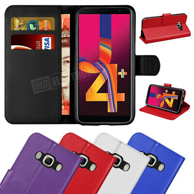 Case Cover For Samsung Galaxy J4 Plus Magnetic Flip Leather Wallet Stand