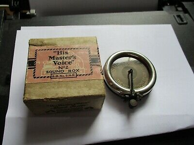 A very good HMV No2 working gramophone phonograph soundboxwith box