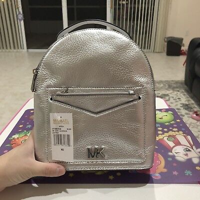 78c6a1ac22da Michael Kors Jessa Small Metallic Pebbled Leather Convertible Backpack $268