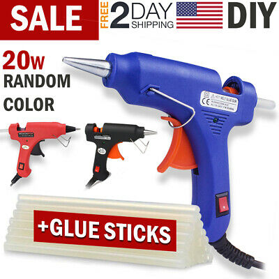 Hot Melt Glue Gun & Glue Sticks Electric Heating DIY Repair Mini Kit Arts Crafts