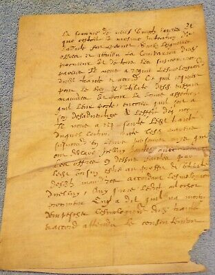 Early French Document in Vellum