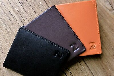 Leather Wallet Mens Genuine Handmade Slim Coin Pouch RFID Blocking Secure Cash