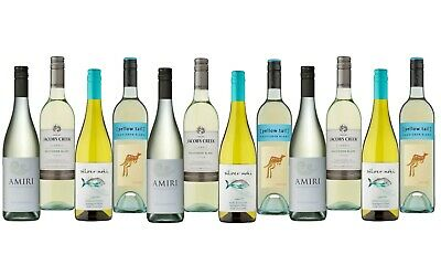 AU Mixed White Wine feat. Yellow Tail Sauv Blanc - 12 x 750mL - FREE SHIPPING