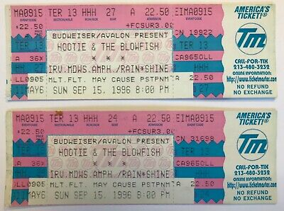 (2) HOOTIE & THE BLOWFISH 1996 Fairweather Johnson Concert TICKETS Darius Rucker