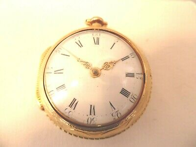 A VERY GOOD 22 CARAT PAIR CASED FUSEE POCKET WATCH, BY Jn JARDIN.,LONDON 1775..