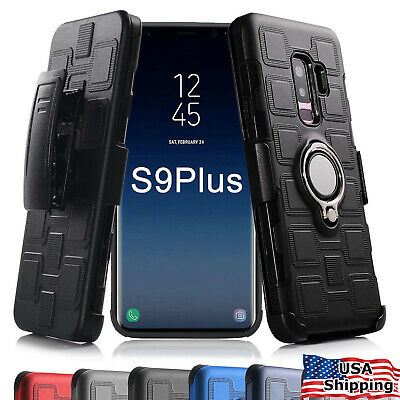 For Samsung Galaxy S8 S9 Plus NOTE 9 8 Ring Case Belt Clip Holster Clip Cover