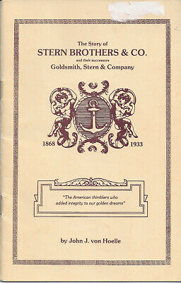 BOOKLET: Stern Bros. Co. by John von Hoelle c.1985 - Out of Print