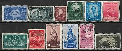 1948-1953 Romania Set Of 12 Used Stamps - Cv €6.00