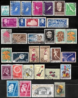 1955-1959 Romania Lot Of 32 Used Stamps - Cv €19.20