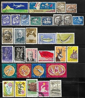 1960-1963 Romania Lot Of 32 Used Stamps - Cv €8.50