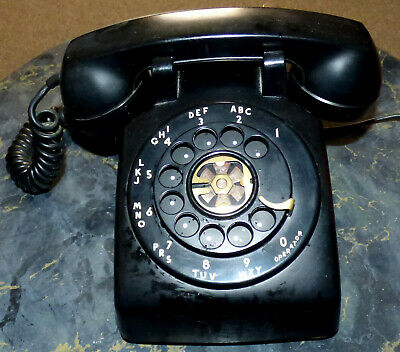 Vintage Western Electric Made In USA 1972 Black Rotary Phone